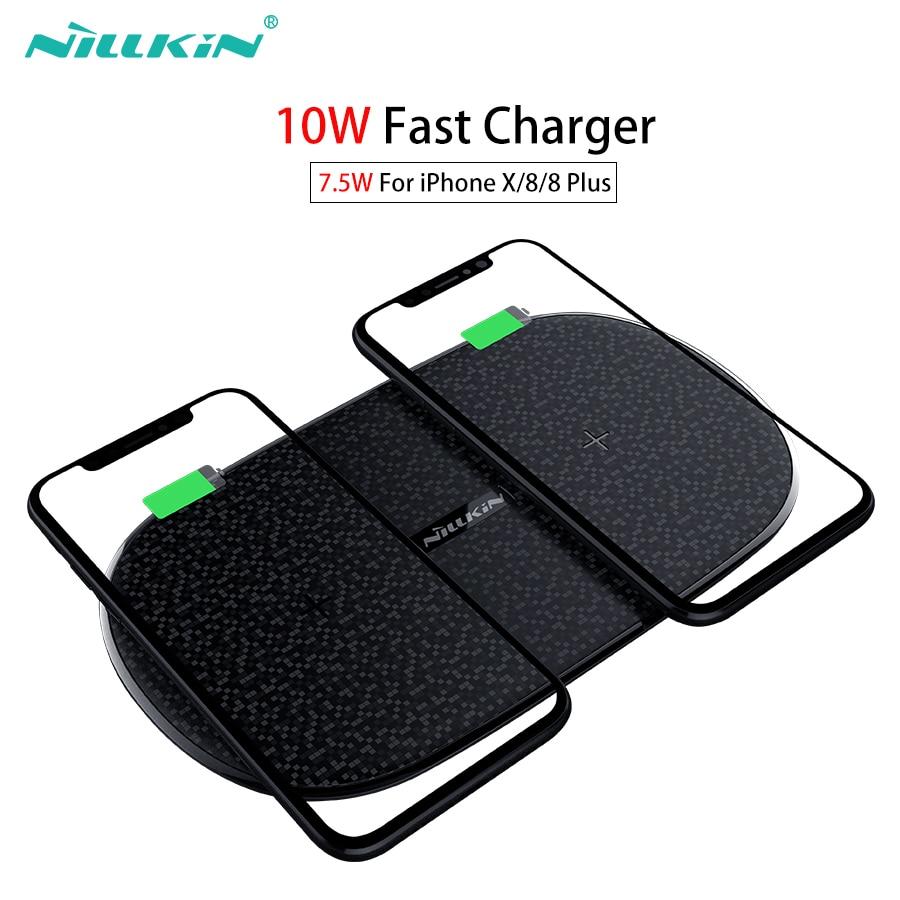 Rapide Sans Fil Chargeur 10 w 7.5 w, nillkin 2 dans 1 Qi Sans Fil De Charge Pad pour iPhone X/8/8 Plus Pour Samsung Note 9 /S9/Note 8/S8