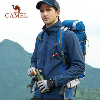 CAMEL Men Outdoor Softshell Hiking Jacket Waterproof Windproof Hiking Camping Fishing Hunting Coat - DISCOUNT ITEM  30% OFF Sports & Entertainment