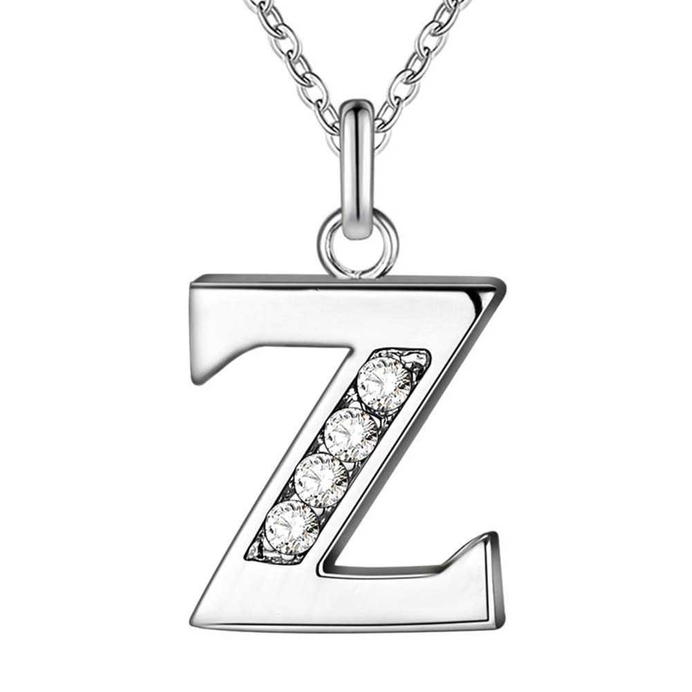 Bluelans Einfache Shiny Zirkon 26 Englisch Buchstaben Anhänger Mode Luxus Punk Frauen Männer Dünne Halsketten Schmuck Decor Zubehör