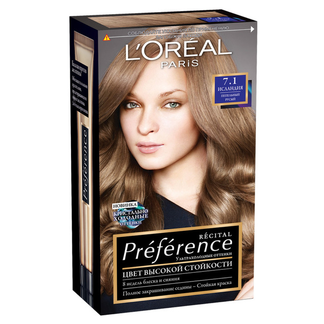 LOREAL PREFERENCE hair color tone 7.1 Iceland -in Hair Color from ...