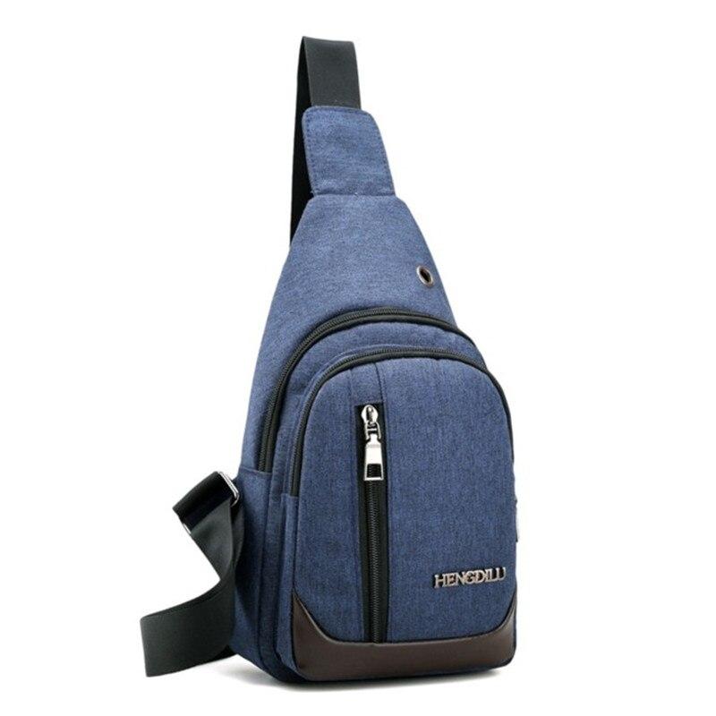 c71f883438d6c Mochilas erkekler tek kayış tuval sırt çantası erkek bir omuz üçgen sırt  çantası çapraz vücut göğüs çanta açık havada çanta
