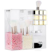 Acrylic Clear Storage Container Dustproof Makeup Case Box Cosmetic Brush sponge beauty blender Holder Organizer