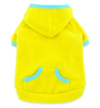2017 Small Pet Clothes for Dogs Cats Blank Fleece Coat Hoodie Jumper Sport Style