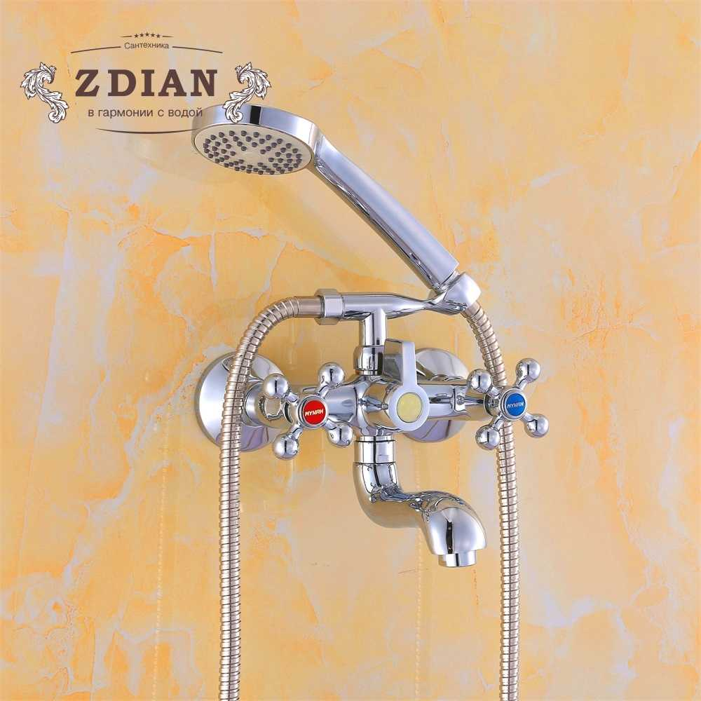Bathtub Faucets Chrome Bathroom Tub Mixer Faucet New Style Handheld Bathtub Faucet Wall Mounted Shower Faucets