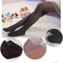 sexy glitter nylon Pantyhose women girls stockings breathable summer tights elastic medias pantys collant brillant