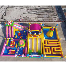 inflatable bouncer slide combo fun city with air blower for sale