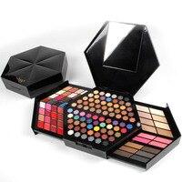 Miss Rose 1 caixa de 130 Cores Matte & Pérola Sombra de Olho Kit Maquiagem Profissional Sombra Paleta de Hexágono Com Batom Corretivo