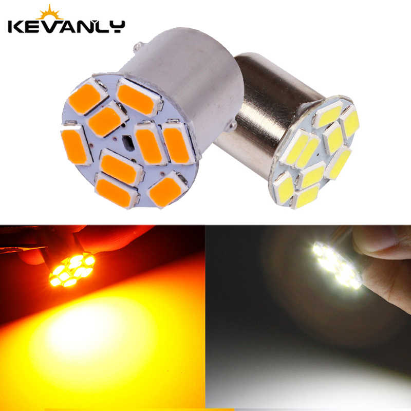 1156 BA15S P21w BAU15S Py21w S25 5630 9 Smd Bulbs For Car Side Indicator Lamp Turn Signal Light Brake lamp Amber white LED Light