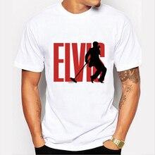 Men Elvis Pop Men T-Shirt Summer Style Elvis Presley T Shirts Short Sleeve Male Music Hip Hop Man Top Tees Customizable