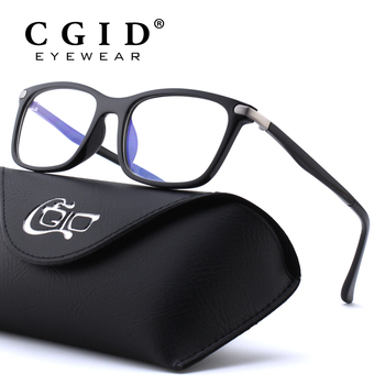 CGID TR90 Computer Glasses Anti Blue Rays Radiation Optical Print Glasses Square Eye PC Glasses Frames Men and Women CT46