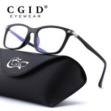 CGID TR90 gafas de ordenador Anti rayos azules radiación gafas de impresión óptica gafas de ojo cuadrado para hombres y mujeres CT46
