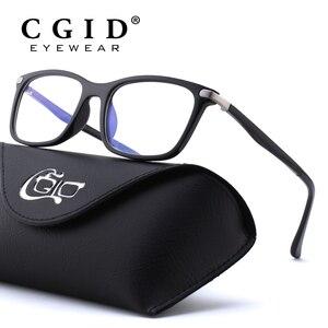 Image 1 - Cgid tr90 컴퓨터 안경 안티 블루 광선 방사선 광학 인쇄 안경 광장 눈 pc 안경 프레임 남성과 여성 ct46