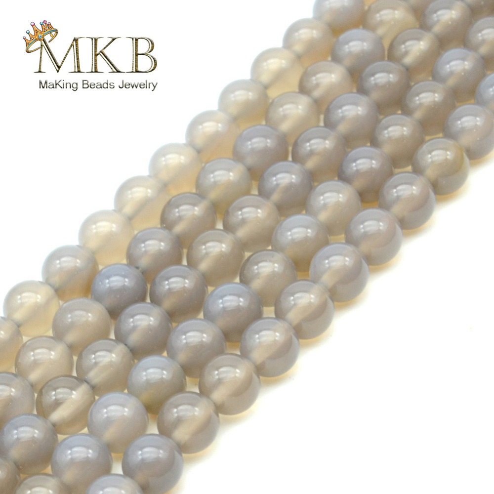 Beads & Jewelry Making Jewelry & Accessories Natural Stone Grey Agates Round Loose Beads For Jewelry Making 4 6 8 10mm Spacer Gem Beads Diy Bracelet Wholesale Perles