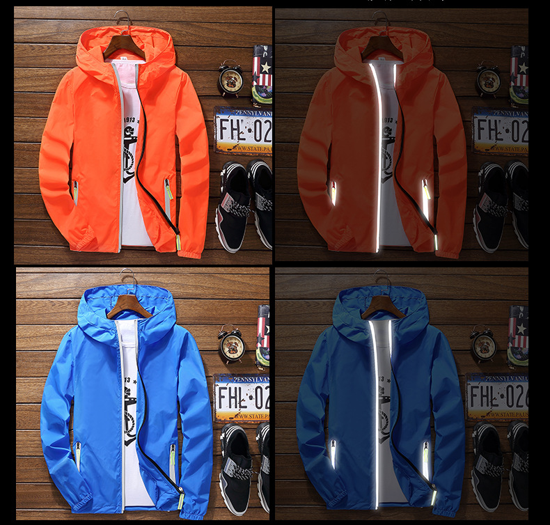 2019 Ultra-Light Men's Summer Hooded Jacket Super-Thin Windbreaker Packable Skin Coat Sunscreen Waterproof Beach Casual Jackets