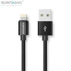 Suntaiho 아이폰 7 6 플러스 6 초 5 5 초 USB 충전기 나일론 꼰 케이블 번개 빠른 충전 데이터 동기화 휴대 전화 케이블