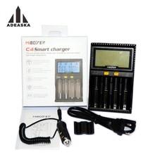 Original Miboxer C4 LCD Ladegerät für Li-Ion/IMR/INR/ICR/LiFePO4 18650 14500 26650 AAA 3,7 1,2 V 1,5 V Batterien PK VC4