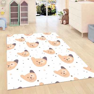 Else Brown Bear Blue Dots Funny Bears Kids Room 3d Print Non Slip Microfiber Children Kids Room Decorative Area Rug Mat