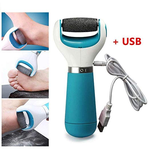 Electric Callus Remover Rechargeable Pedicure Tool Shaver Electronic Scrubber Foot Grinding Machine for Dry Feet Hard, Dead