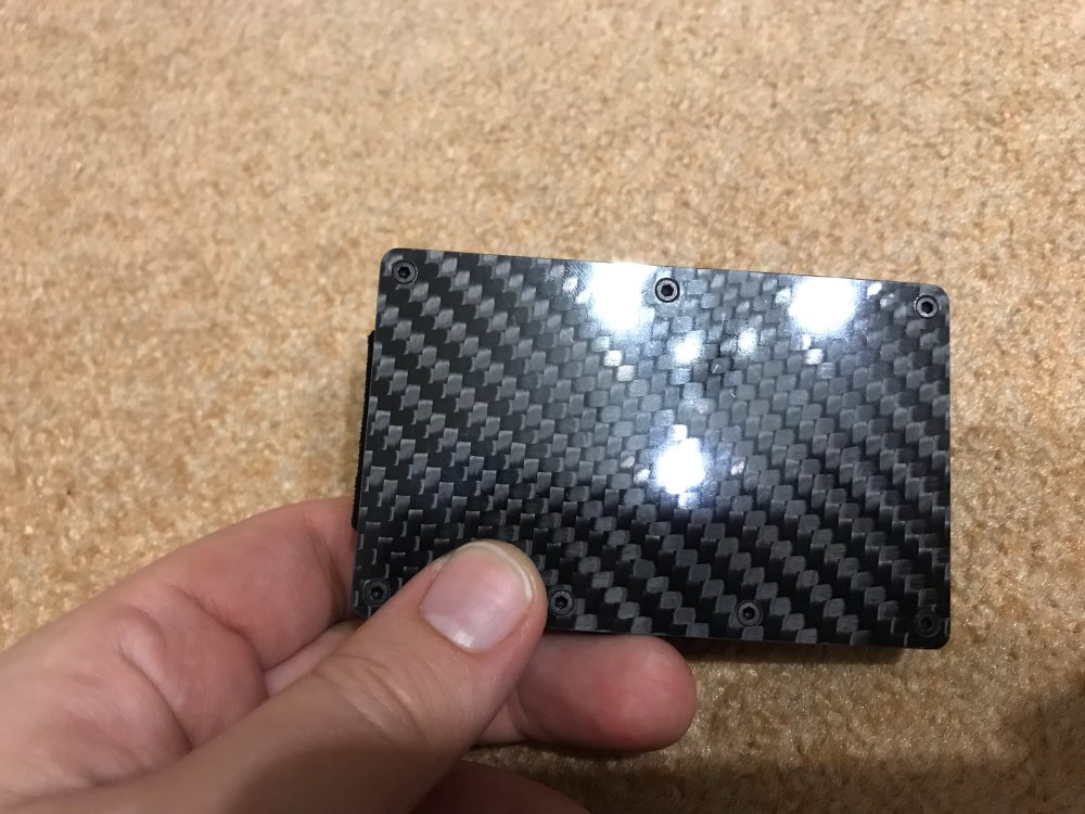 AEQUEEN ID Bank Credit Card Protection Holder Carbon Fiber Anti Theft Rfid Blocking Wallet Covers Porte Carte Metal Travel Case photo review