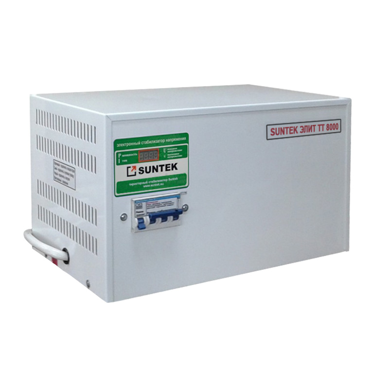 Voltage stabilizer thyristor SUNTEK Elite TT 8000 VA AC Stabilizer Power stab Stabilizer with thyristor amplifier цена и фото