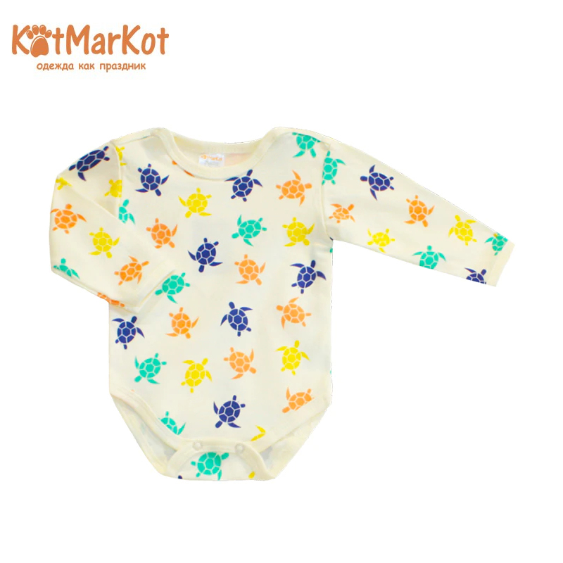 Фото Bodysuit long sleeve Kotmarkot 9231 children clothing cotton for babies kid clothes