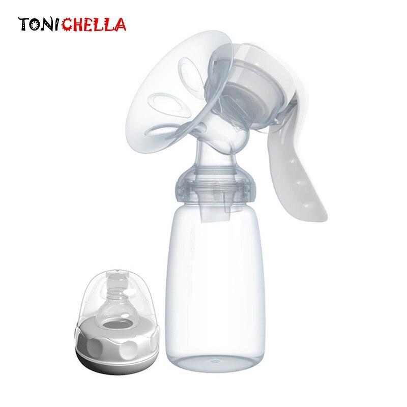 TONICHELLA Handmilchpumpe Kräftigen Attraktion Baby Produkte Frauen Fütterung Ursprüngliche Baby Nippel Sog Milch Flasche T0099