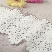 Eyelash Lace Fabric 9cm DIY Decorative High Quality Soft Off White 100% Cotton Trim Wedding Dress Gift 1Y
