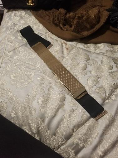 Detalle Comentarios Preguntas sobre Cinturón Negro elástico ancho 4 ... 051088da6bba