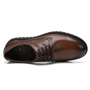Image 2 - גמלים עסקי גברים נעלי עור אמיתי נעליים יומיומיות שמלה/משרד רטרו אנגליה זכר חרוך בציר צבע עור נעלי גברים