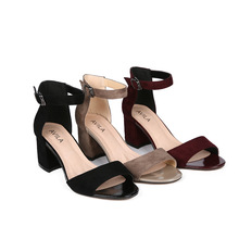 Женские босоножки; женская обувь на каблуке; женские летние RC702_AG020014-19-1 из искусственной замши; женские сандалии на танкетке
