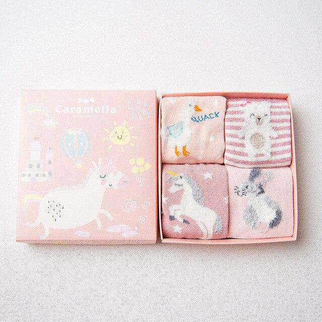 Комплект детских носков «Единорог», 4 пары
