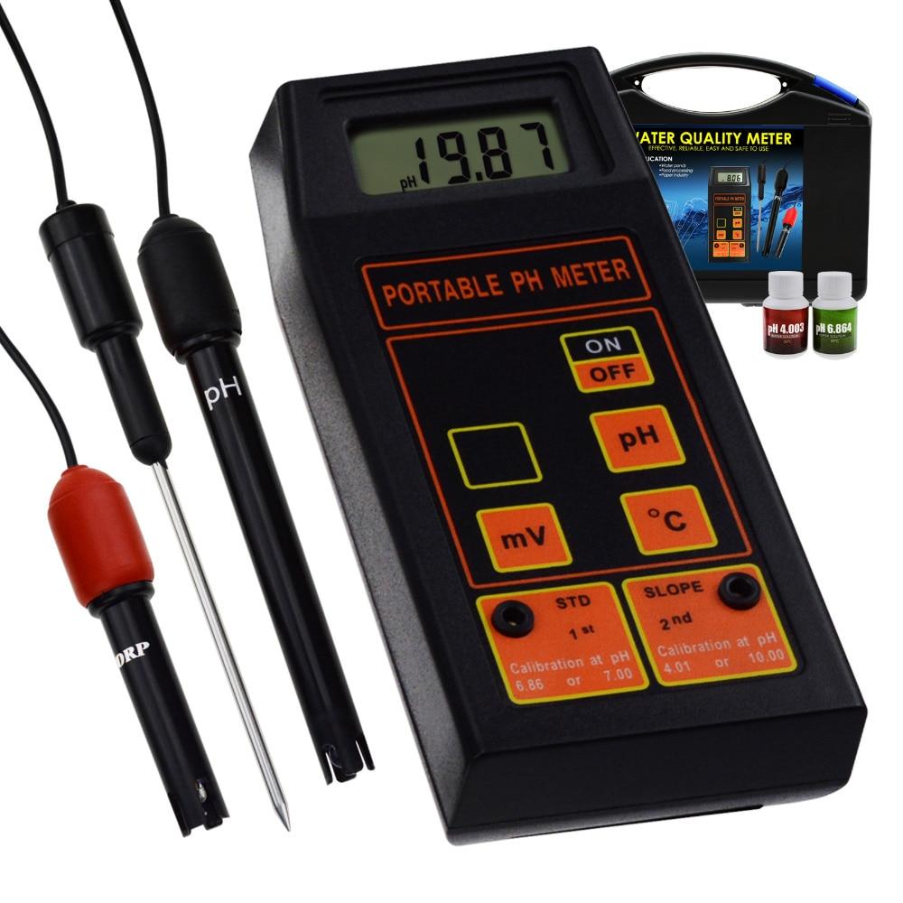 Numérique pH/ORP mV/Température Mètre D'eau Qualité Testeur Remplaçable pH ORP Électrode Laboratoire Test, La Culture Hydroponique Eau