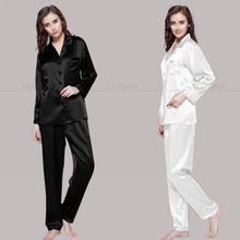 Womens Silk Satin Pajamas Set Pajama Pyjamas Set Sleepwear Loungewear S M L XL 2XL 3XL