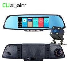 Cuagain cuk05 DVR 7′ ADAS автомобиля Камера Двойной объектив видео Регистраторы Зеркало заднего вида с заднего вида автомобильной зеркало регистраторы HD 1080 P