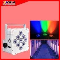 9*18w LED DMX Wireless White Battery Par Light Stage Lighting for Wedding Nightclub DJ KTV Club Party Decoration