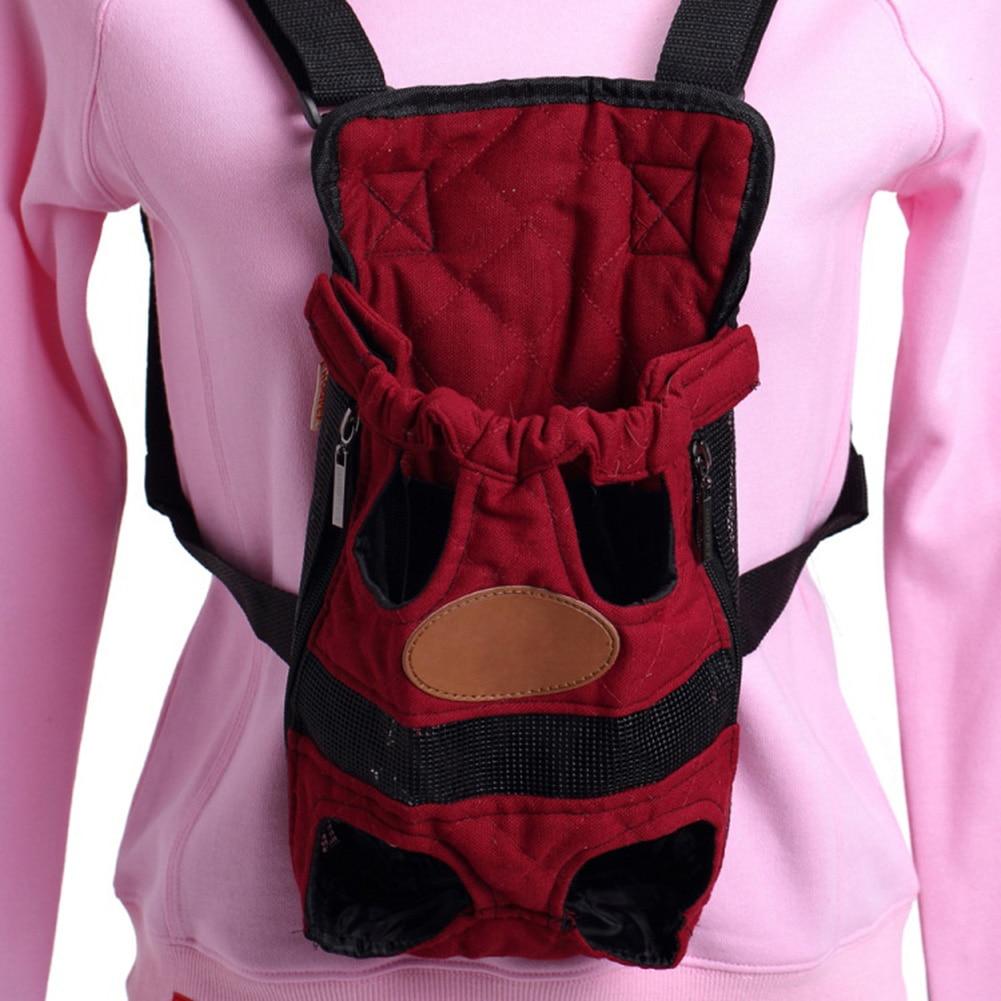Pet Cat Dog Front Backpack Lightweight Outdoor Travel Bag Legs Out Carrier