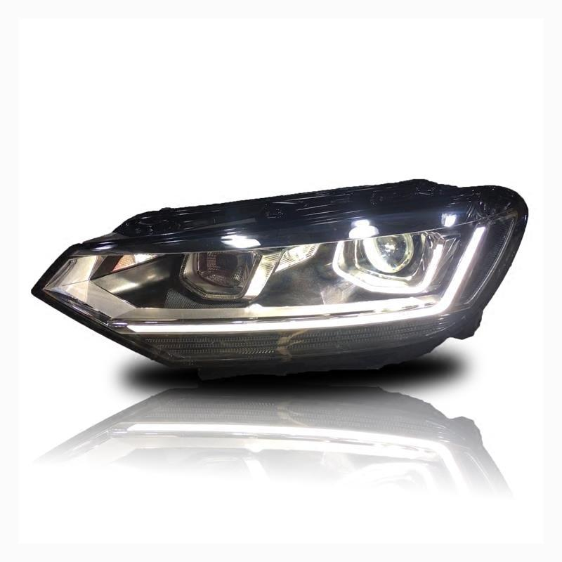 Headlights Cob Lamp Accessory Assessoires Luces Parts Drl Neblineros Para Auto Styling Car Led Lights For Volkswagen Touran L