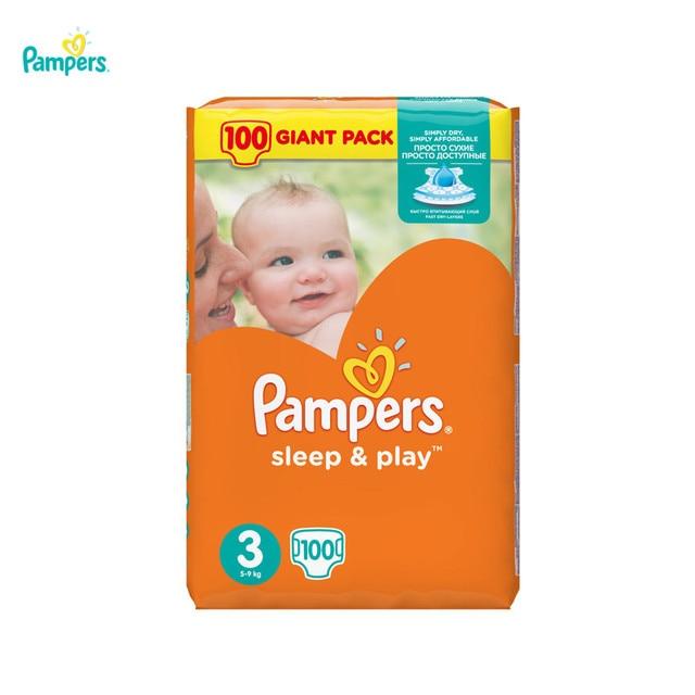 Подгузники Pampers Sleep & Play 5-9 кг, размер 3, 100 шт.