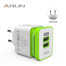 ARUN Universal 2 USB Quick charge 5V 2.1A for Iphone 7 8 EU US Plug Mobile Phone Fast charger charging for Samsug s8 s9 Huawei 3 usb quick charge 3 0 5v 3a eu us for iphone 7 8 eu us plug mobile phone fast charger charging for samsug s8 s9 xiaomi note 7