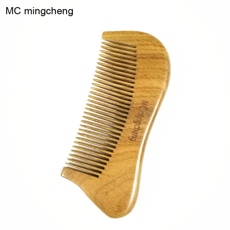 43cd0d4d2ce MC 100% Green Sandalwood Natural Comb Wood Massage Hair Care Styling  Hairbrush Beard Moustache Anti Static Small Pocket Comb