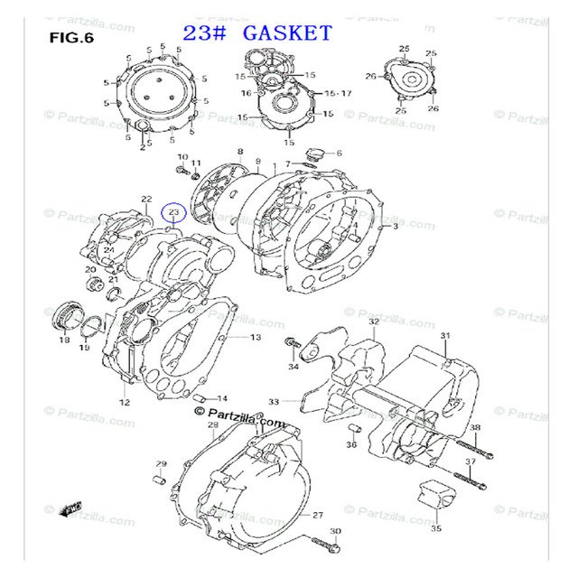 LOPOR Motorcycle Stator Engine Cover Gasket For Suzuki