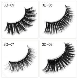 Image 3 - 50pcs Mink Lashes Luxury Natural long Mink False Eyelashes Cross Thick Extension Eyelashes 18Styles Free Logo Wholesale