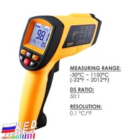 50:1 Non contract IR Infrared Laser Thermometer 30~1150degC/ 22~2102degF Digital Professional Instant Read 0.1~1EM Pyrometer