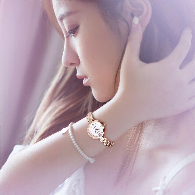 Geya Hot Sales Women Watches Top Brand Luxury fashion Rose Gold Waterproof Quartz Ladies Wristwatches Bracelet Watch bayan saat