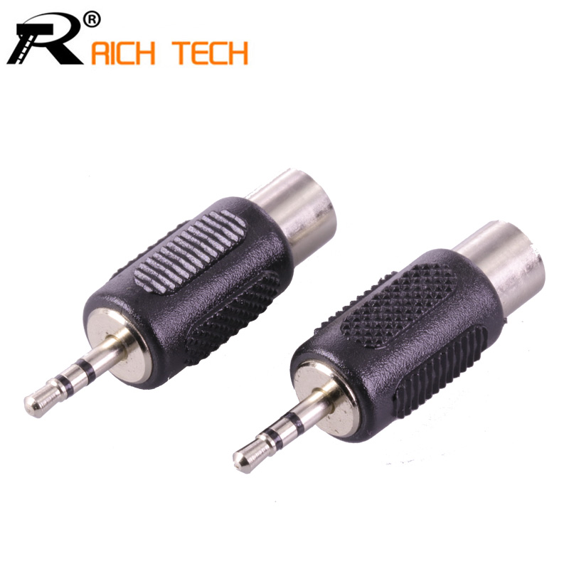 3Pcs RCA Connector Audio/Video Adapter Jack 2.5 MM Stereo Plug to RCA Female Jack High quality Earphone plug DIY play plug 6 35 rca jack connector 8pcs mono male plug 6 35 to female jack rca adapter audio video wire connector plug 6 35 to rca