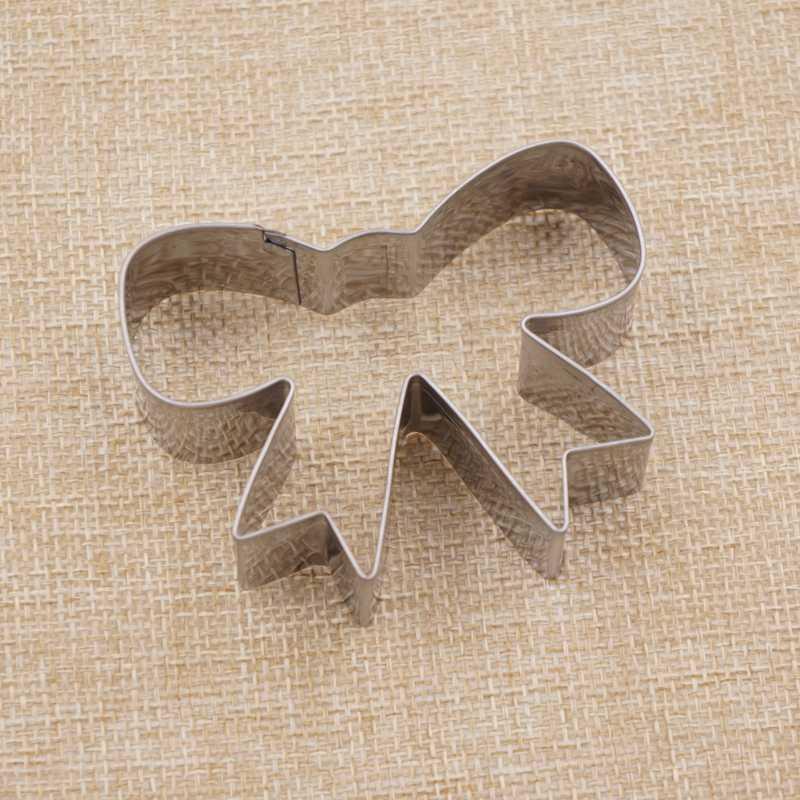 โบว์คุกกี้เครื่องมือตัดแม่พิมพ์บิสกิตไอซิ่งชุดแสตมป์แม่พิมพ์ Bakeware สแตนเลสสำหรับห้องครัว China Baking Fondant