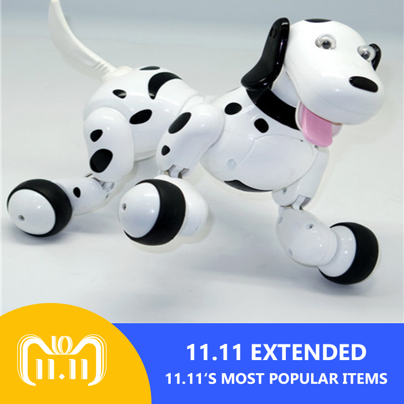 Lovely Cute Mini 2.4G RC Remote Contolled Robot Smart Dog dancing light walk Multifunctional toys RC Intelligent Simulation цена и фото