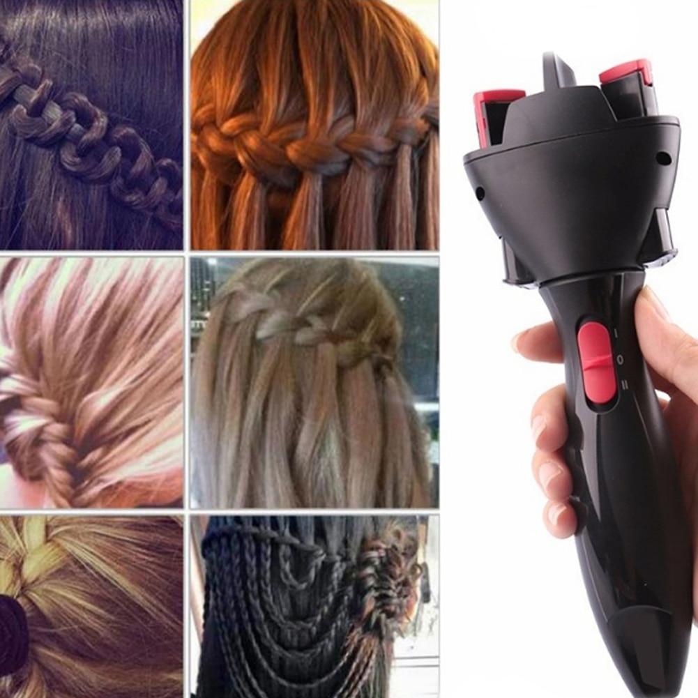 1pc DIY Braid Hair Braider Hairstyle Tool Childs Fast Editing Hair Tools High Quality Lady Electric Hair Braider Hair Tools