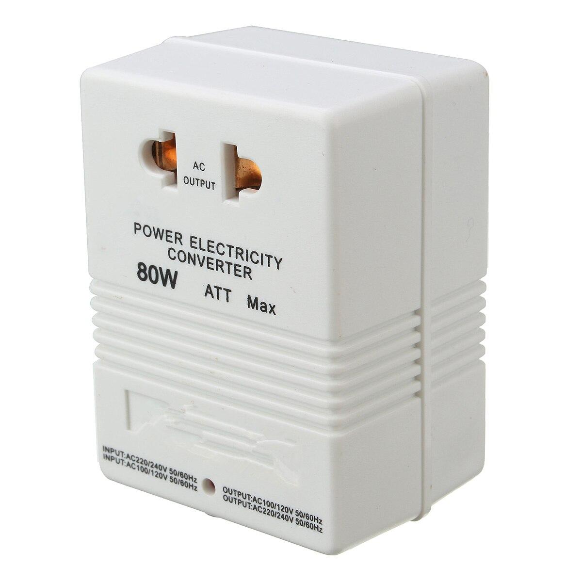 все цены на 80W 110V to 220V Converter New Step Up Down Power Eletric VOLTAGE CONVERTER Adapter Watt Transformer Travel онлайн