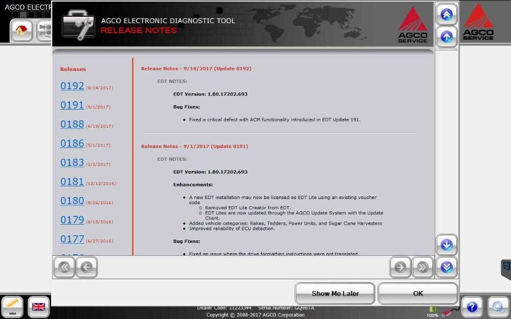 AGCO Electronic Diagnostic Tool 1 80 [2018] EDT+Activation For any  Interface INSTALL UNLIMITED COMPUTER-in Software from Automobiles &  Motorcycles on